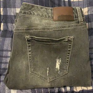Size 13/14 grey distressed Maurice skinny jeans